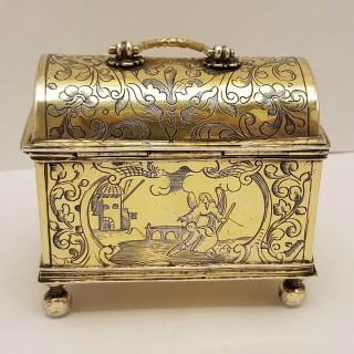 Antique Dutch Silver Marriage Box