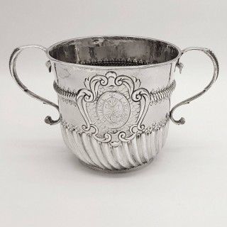 Antique Queen Anne Silver Porringer