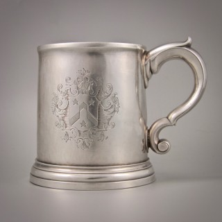 GEORGE I Britannia Standard Silver Mug by David Willaume I. London 1721.
