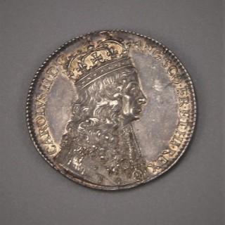 CHARLES II Coronation Silver Medal. London 1661 by Thomas Simon.