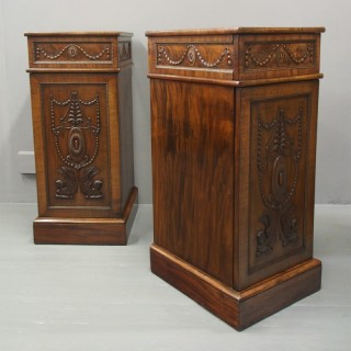 Pair of George III Mahogany Pedestals