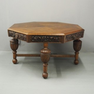 Oak Centre or Dining Table with Historic Edinburgh Woods
