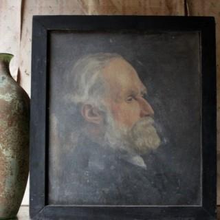 An Early 20thC Oil on Canvas Portrait of an Elderly Gentleman by A.L. Woodman 1919