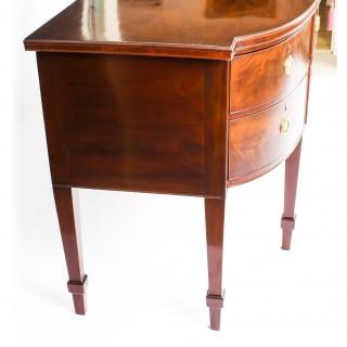 Antique English Regency Flame Mahogany Sideboard 19th Century