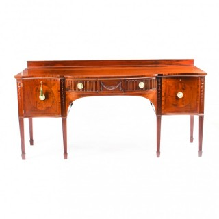 Antique English Flame Mahogany Sideboard by Cowtan & Sons 19th Century