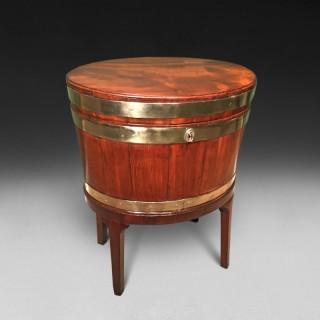 George III period Oval Mahogany Wine Cooler