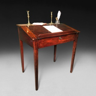 A George III Period Mahogany Tally Desk