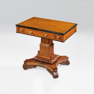 A Mahogany and Ormolu Mounted William IV Games Table