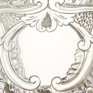 Sterling Silver Three Piece Tea Service - Queen Anne Style - Antique Victorian (1893)