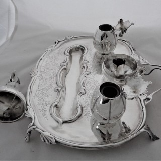 Fantastic Victorian silver inkstand London 1846 by the Foxes