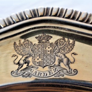 Excellent set 12 early George III silver gilt plates London 1767 Charles Frederick Kandler