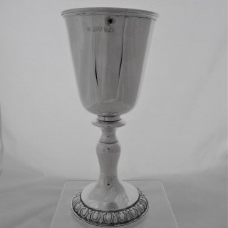Nice quality large Georgian silver wine cup London 1829 by the Barnards