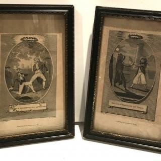 Pair of Fencing Prints