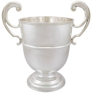 Sterling Silver Presentation Champagne Cup - Antique Edwardian (1905)