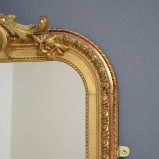 Elegant Tall 19th Century Giltwood Mirror