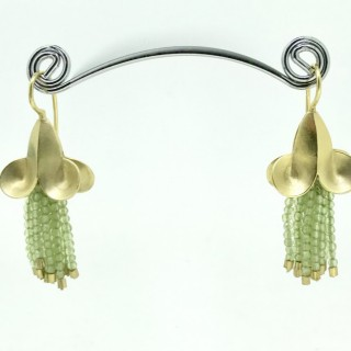 Silver Gilt and Peridot Earrings