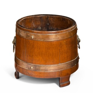 An early 20th Century Period Shaped and Coopered Jardiniere.