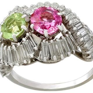 2.34ct Sapphire and 2.45ct Diamond, Platinum Dress Ring by Boucheron - Vintage French Circa 1955