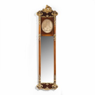 A Most Unusual Late 19th Century Mahogany Hall Mirror