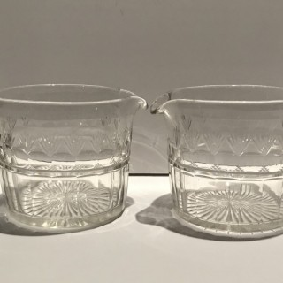 Pair of Georgian Glass Rinsers