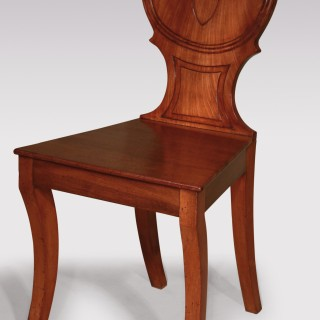 Pair of Regency period mahogany Hall Chairs