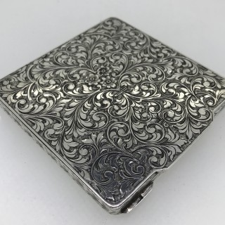 Vintage Silver Compact Case