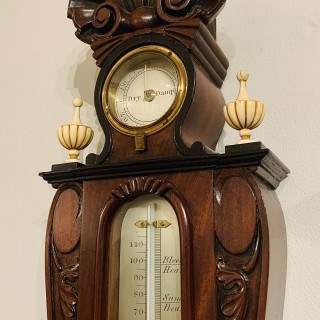 Rare Clock/Barometer by Ganthony of London