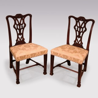 Set 8 + 2 Chippendale design mahogany Dining chairs