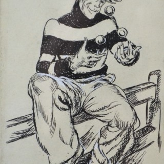 Steven Spurrier - Charlie Chaffinch - pen and ink drawing