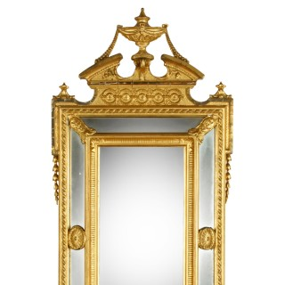 Giltwood & Gesso Girandole Mirror