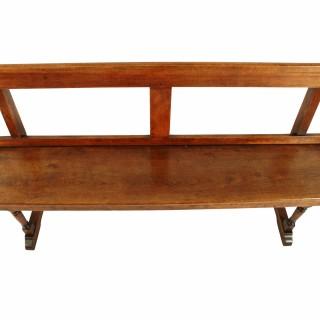 19th Century Walnut Bench Seat