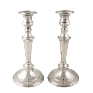 Pair of Edwardian Silver Plated Candlesticks
