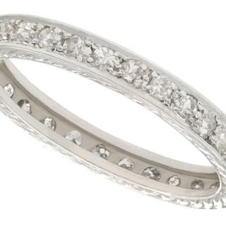 0.65ct Diamond and Platinum Full Eternity Ring - Antique Circa 1930