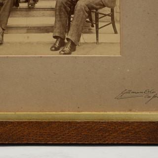 Christ Church University, Oxford, 1893 Double Rowing Team Photograph.