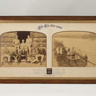 Christ Church University, Oxford, 1894 Double Rowing Team Photograph.