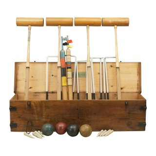Antique Gamage's Special All England Croquet Set