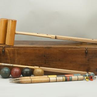 Antique Gamage's Special All England Croquet Set