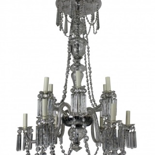 EDWARDIAN CUT GLASS CHANDELIER