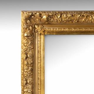 A Massive Late 19th Century Italian Giltwood Mirror