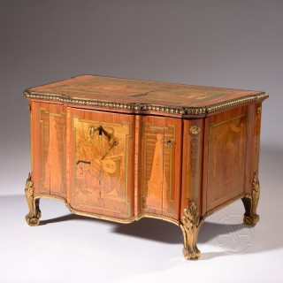 A Very Rare Louis XVI Period Serinette or Bird Organ In The Form Of A  Miniature Commode By Robert Richard, Paris.