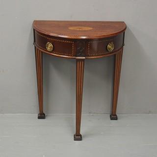 Dutch Inlaid Mahogany Side Table