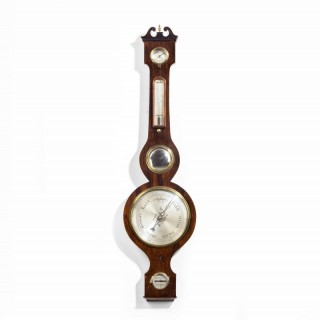 A Good Late 19th Century Baufort Banjo Barometer