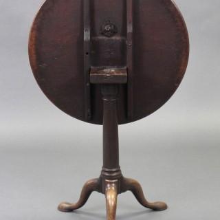 George III Mahogany Gun Barrel Tray Top Tripod Table, Circa 1770-1790