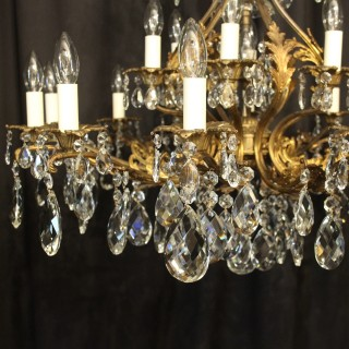 Italian Gilded 19 Light Antique Chandelier