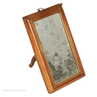 Mahogany Campaign Mirror With 2 Looking Glasses