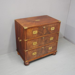 Victorian Mahogany Military Chest of Drawers