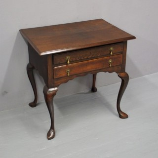 Fruitwood and Oak Lowboy