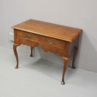 George II Oak and Walnut Lowboy