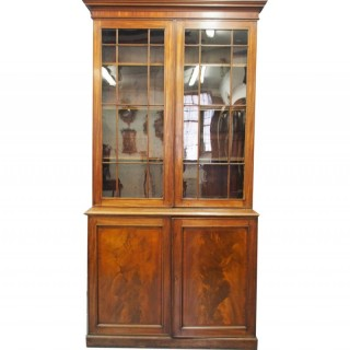 George III Mahogany Cabinet Bookcase