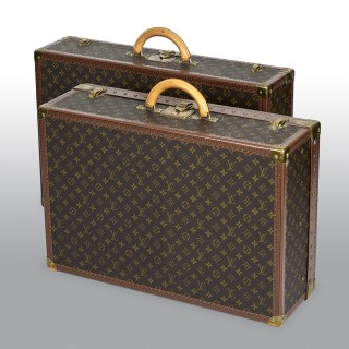 Two Louis Vuitton Alzer Monogram Luggage Bags